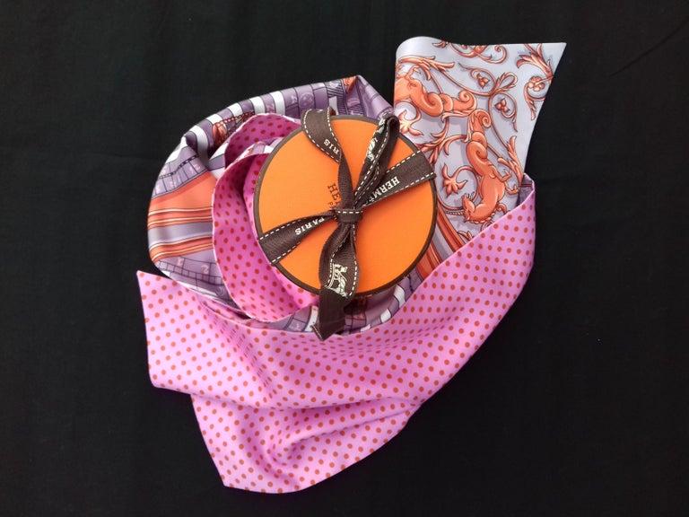 Hermès Silk Scarf Maxi Twilly Cut Astrologie Pois (Dies et Hore) Parma In Box For Sale 12