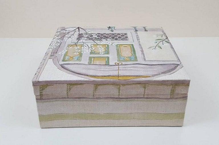 Sultans Garden Sanderson Fabric Decorative Storage Box for Scarves  For Sale 1