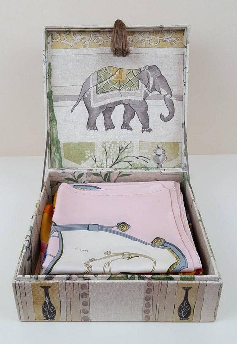 Sultans Garden Sanderson Fabric Decorative Storage Box for Scarves  For Sale 2