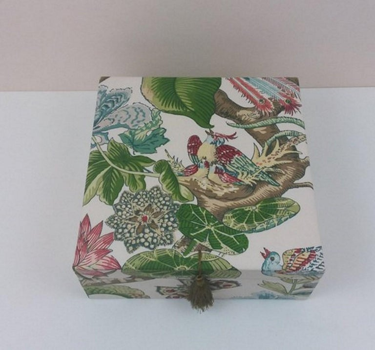 Cranley Garden Greeff Fabric Decorative Storage Box for Scarves  In New Condition For Sale In ., FR