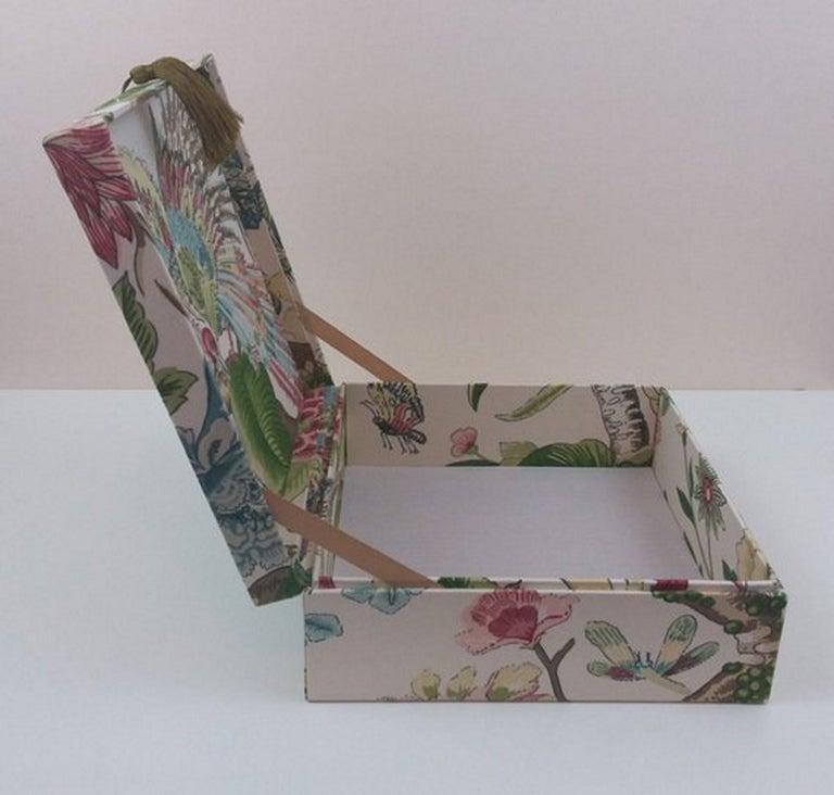 Cranley Garden Greeff Fabric Decorative Storage Box for Scarves  For Sale 1