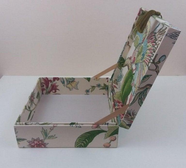 Cranley Garden Greeff Fabric Decorative Storage Box for Scarves  For Sale 2