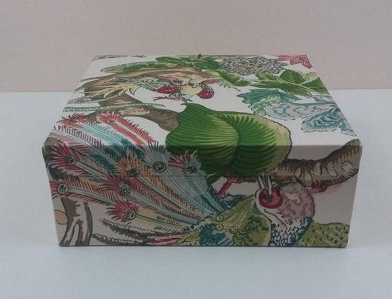 Cranley Garden Greeff Fabric Decorative Storage Box for Scarves  For Sale 3