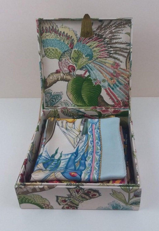 Cranley Garden Greeff Fabric Decorative Storage Box for Scarves  For Sale 4