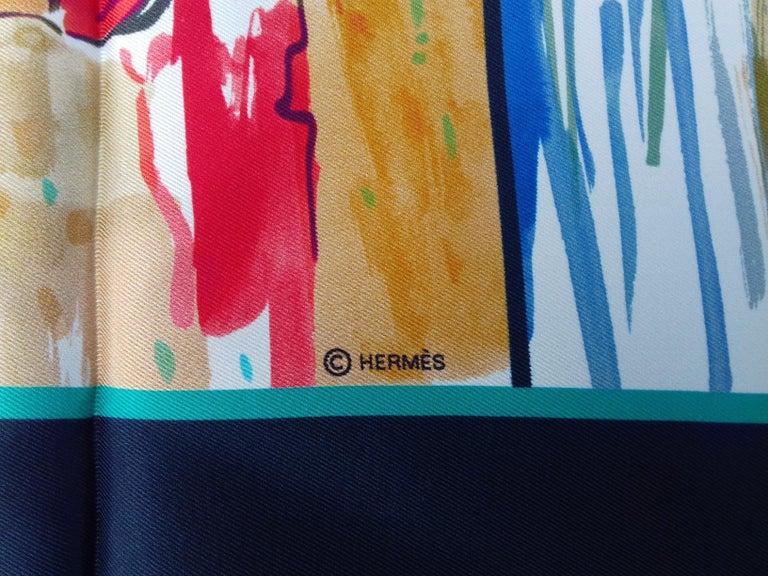Hermès Silk Scarf Bain de Mer Jean Louis Clerc 2016 68 cm For Sale 3
