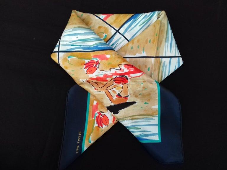 Hermès Silk Scarf Bain de Mer Jean Louis Clerc 2016 68 cm For Sale 7