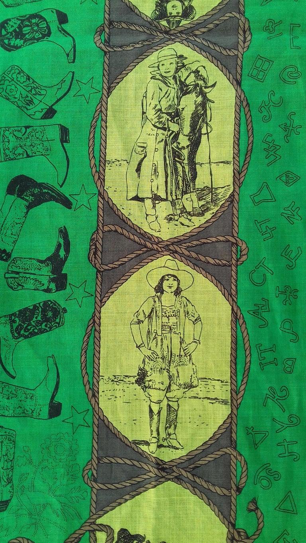 Hermès Cotton Charm Scarf Rodeo Des Cowgirls Kermit Oliver TEXAS 67 cm GRAIL For Sale 4