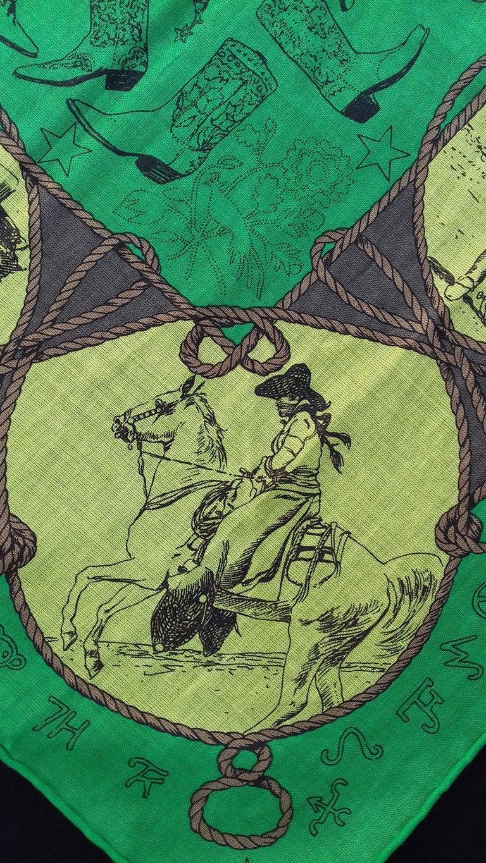 Hermès Cotton Charm Scarf Rodeo Des Cowgirls Kermit Oliver TEXAS 67 cm GRAIL For Sale 5