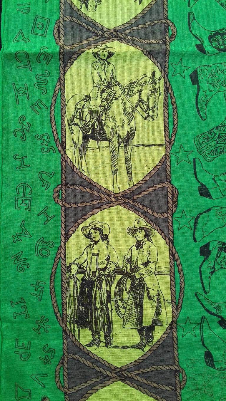 Hermès Cotton Charm Scarf Rodeo Des Cowgirls Kermit Oliver TEXAS 67 cm GRAIL For Sale 6