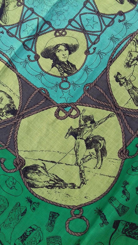 Hermès Cotton Charm Scarf Rodeo Des Cowgirls Kermit Oliver TEXAS 67 cm GRAIL For Sale 8