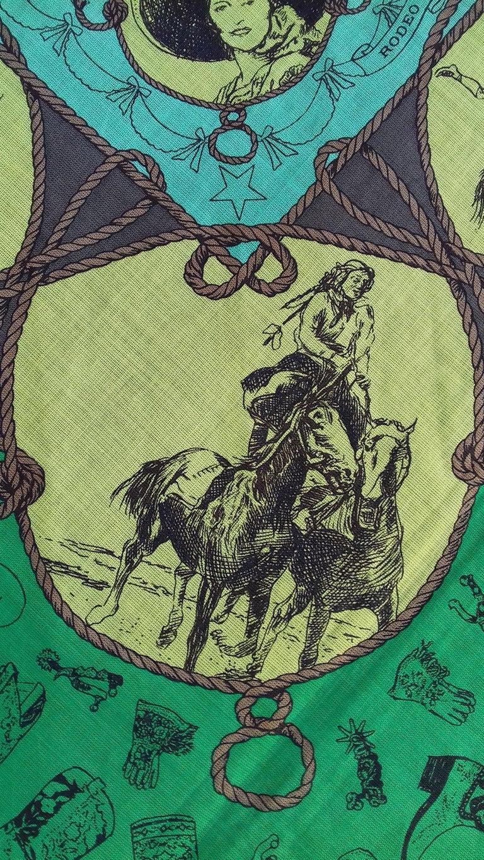 Hermès Cotton Charm Scarf Rodeo Des Cowgirls Kermit Oliver TEXAS 67 cm GRAIL For Sale 11