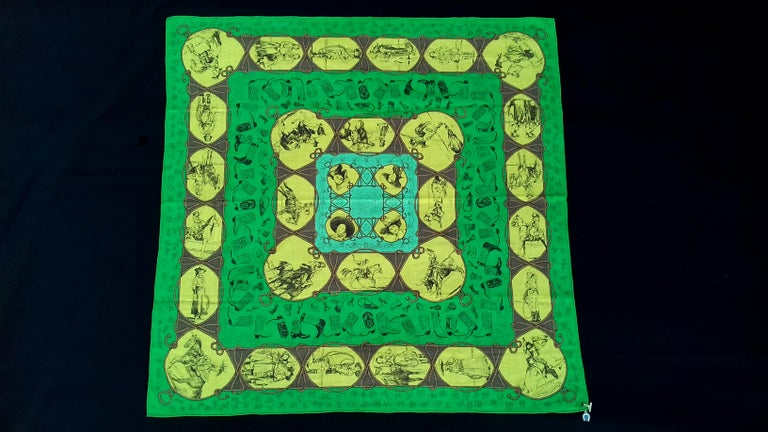 Beautiful and RARE Authentic Hermès Scarf  Pattern: