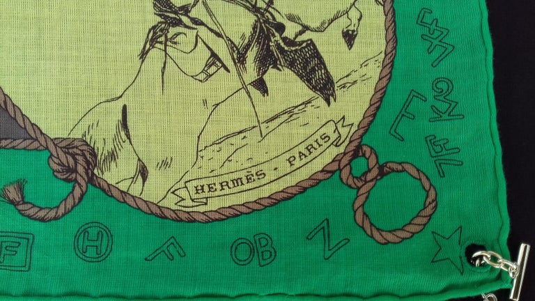 Hermès Cotton Charm Scarf Rodeo Des Cowgirls Kermit Oliver TEXAS 67 cm GRAIL In Excellent Condition For Sale In ., FR