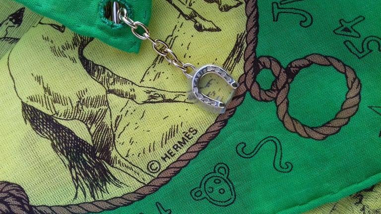 Hermès Cotton Charm Scarf Rodeo Des Cowgirls Kermit Oliver TEXAS 67 cm GRAIL For Sale 13