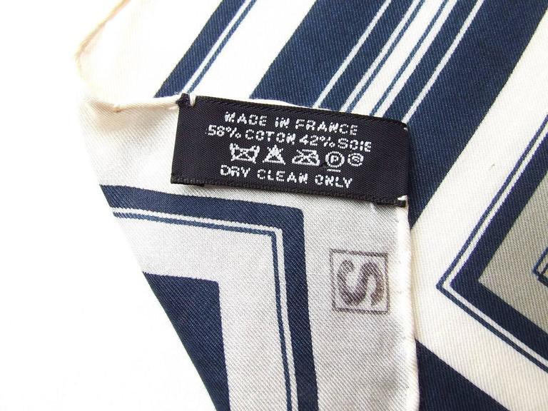 Women's or Men's Authentic Hermes Cotton Silk Scarf Imprimeur Fou RARE For Sale