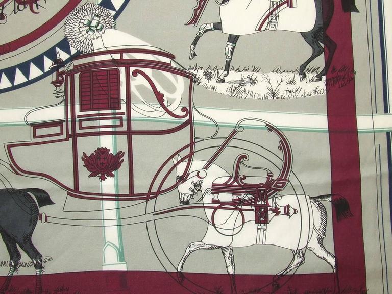 Authentic Hermes Cotton Silk Scarf Imprimeur Fou RARE For Sale 3