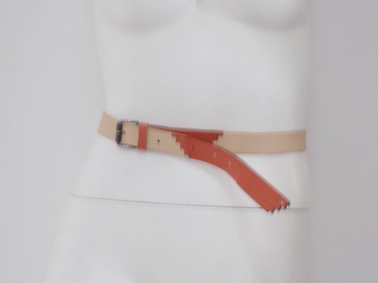 Gianni Versace beije orange belt  Totally made in italy in italian size range m