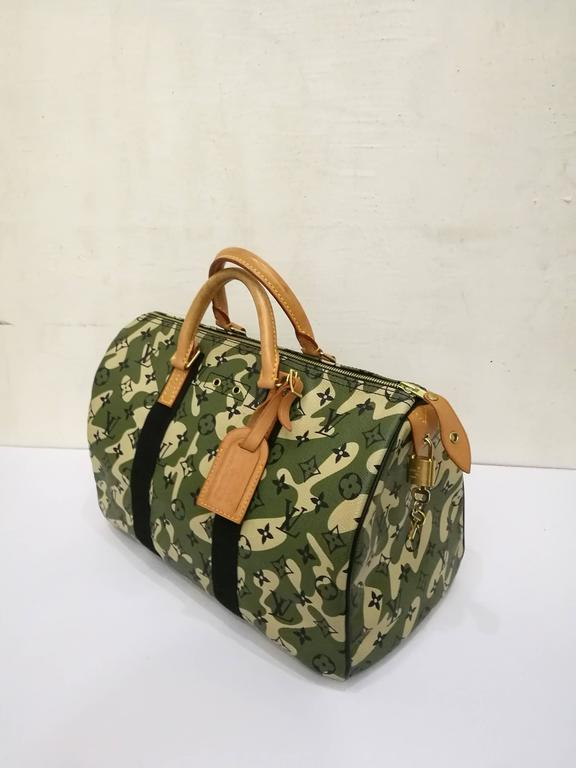 276cd6b3964c Brown Rare Louis Vuitton Monogramouflage Collection Speedy 35 For Sale