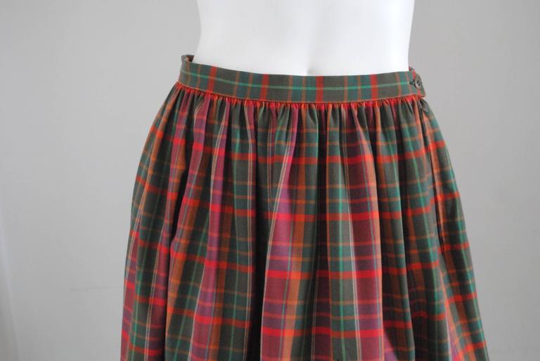 1980s Christian Dior Tartan Skirt 5