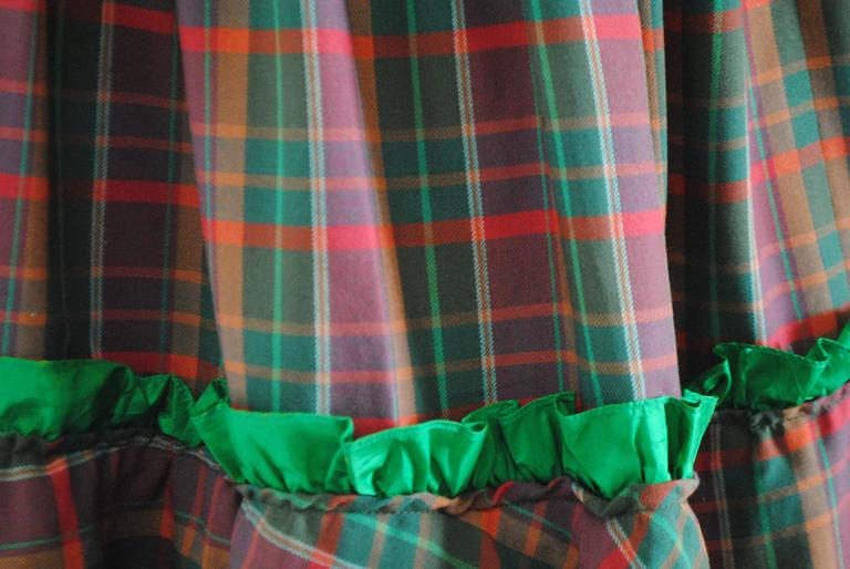 1980s Christian Dior Tartan Skirt 8