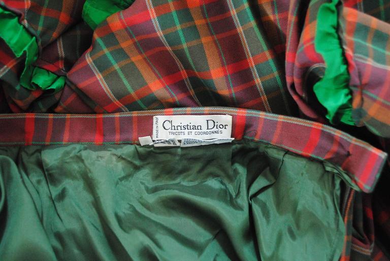1980s Christian Dior Tartan Skirt 10