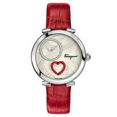 Salvatore Ferragamo Cuore Collection Red Wrist Watch