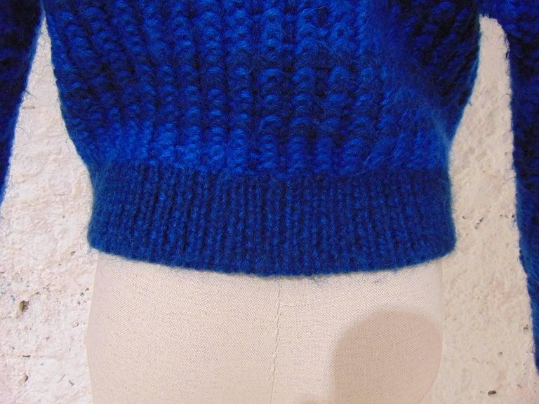 Emilio Pucci by Herwool blu cardigan  For Sale 1