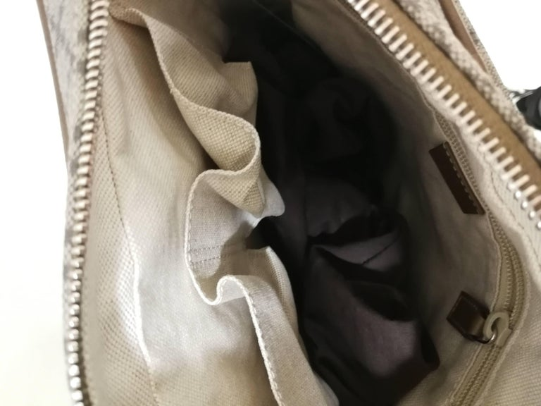 Gucci GG Brown Shoulder Bag Unworn GG diamond textile and brown leather shoulder bag  Totally made in italy
