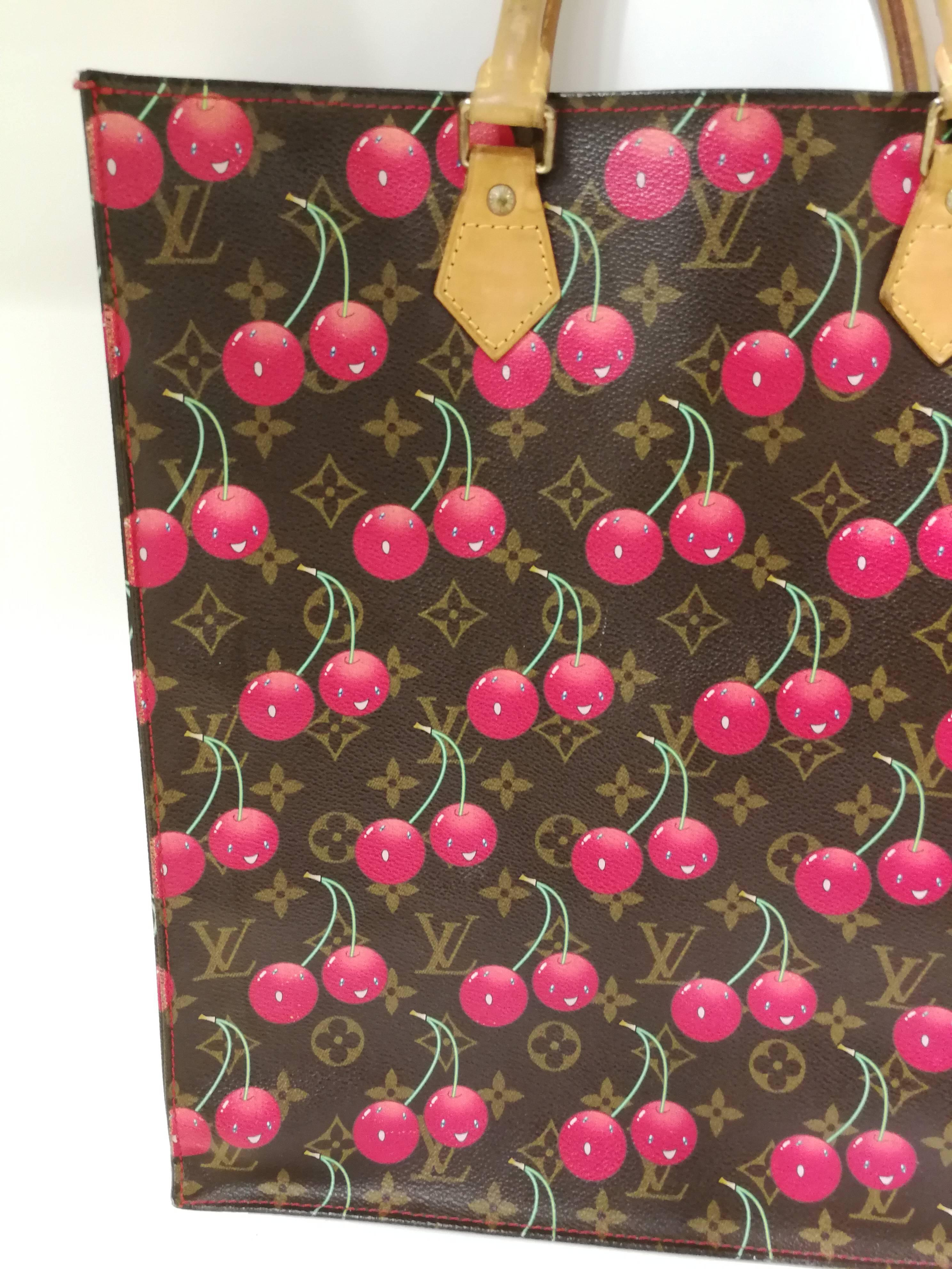 Louis Vuitton Murakami Sac Plat Cherry Bag at 1stdibs 2e7c225509088