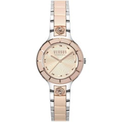 Versus silver and rose gold tone steel watch