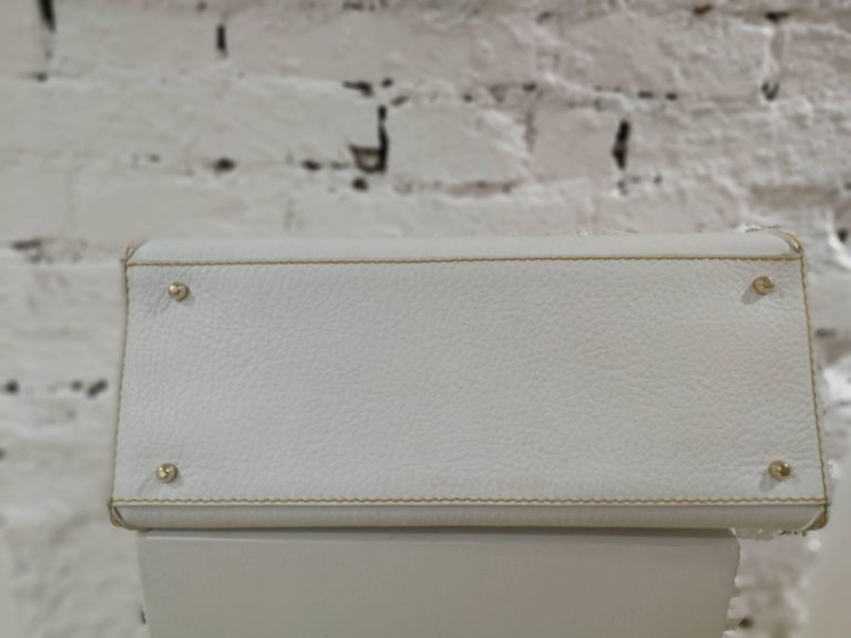 Dolce & Gabbana white leather Denim Handle Shoulder Bag For Sale 3