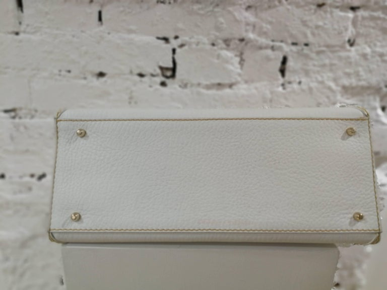 Dolce & Gabbana white leather Denim Handle Shoulder Bag For Sale 4