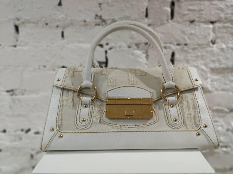 Dolce & Gabbana white leather Denim Handle Shoulder Bag For Sale 6