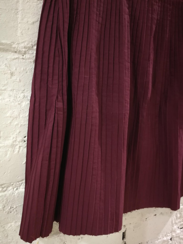 Miu Miu Bordeaux Cotton Skirt Totally made in italy in size S   Waist 68 cm  total lenght  48 cm