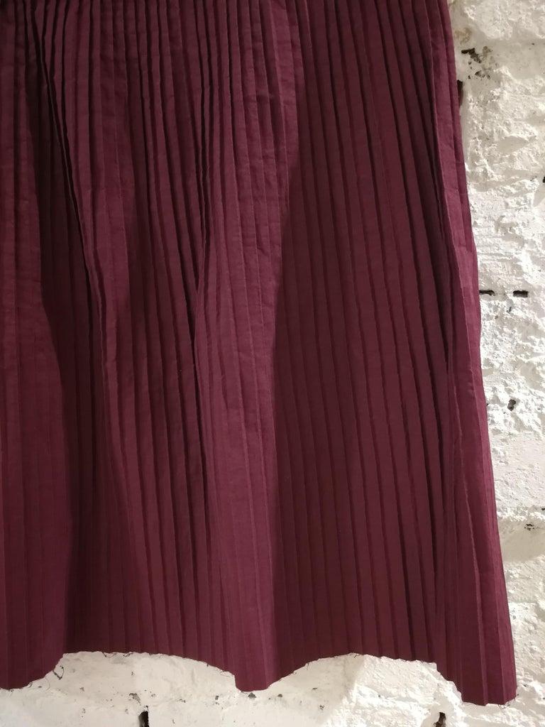 Brown Miu Miu Bordeaux Cotton Skirt For Sale