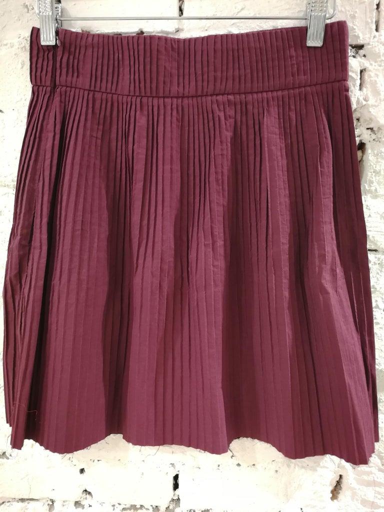 Women's Miu Miu Bordeaux Cotton Skirt For Sale