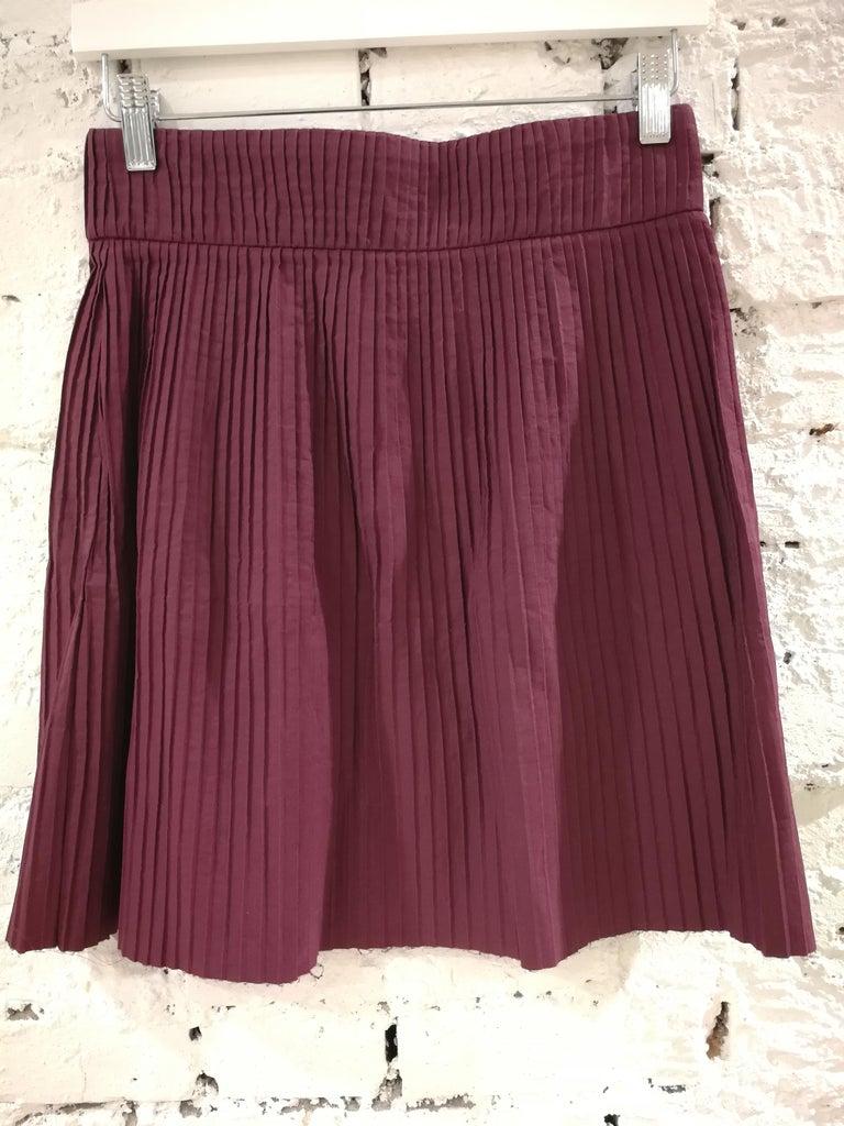 Miu Miu Bordeaux Cotton Skirt For Sale 1