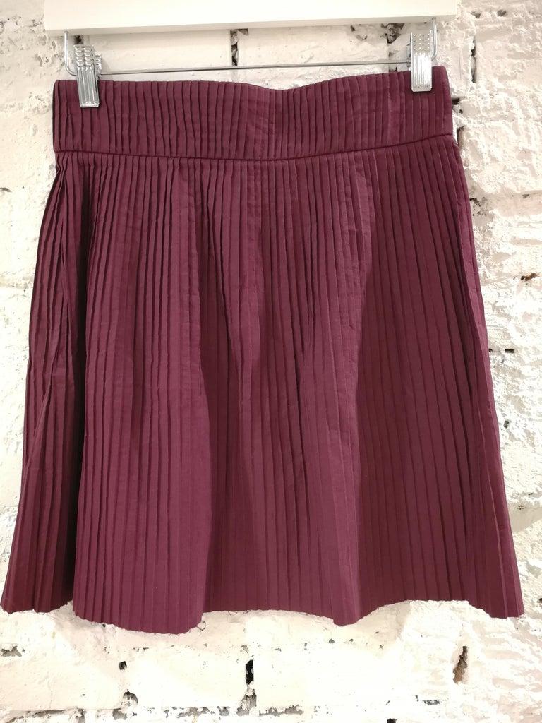 Miu Miu Bordeaux Cotton Skirt For Sale 2