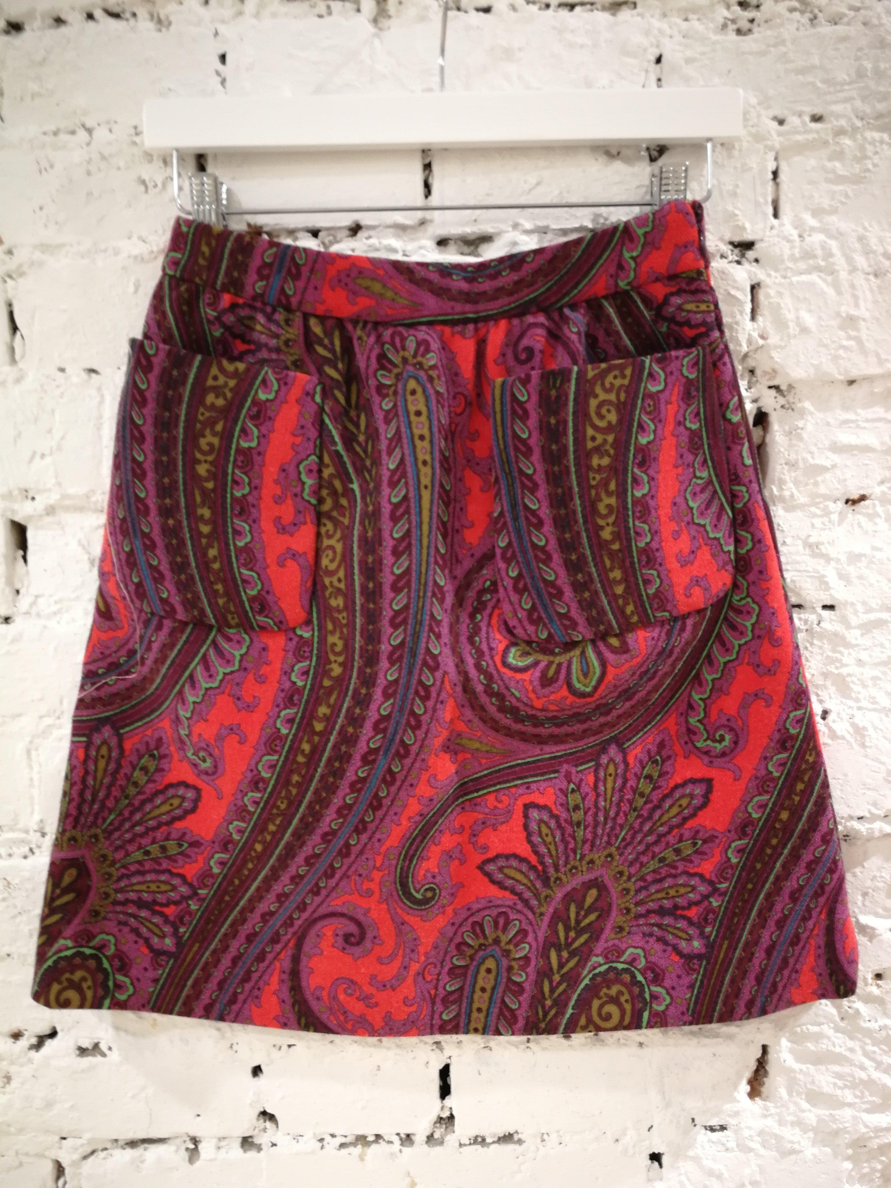 d090acf3d6ab Miu Miu multicoloured Wool Skirt at 1stdibs