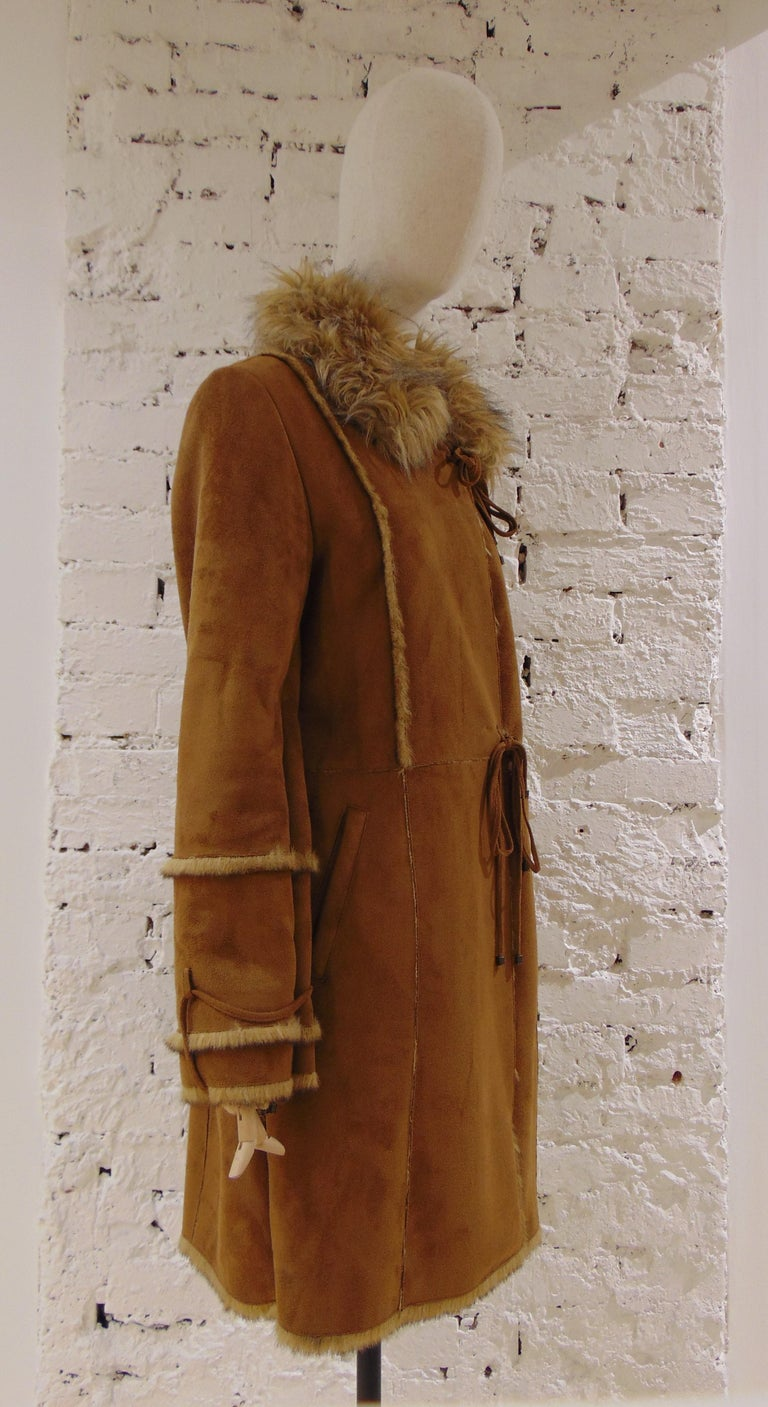 Balmain Brown Coat totally made in france fur free composition polyester and polyacrylic  Size Large