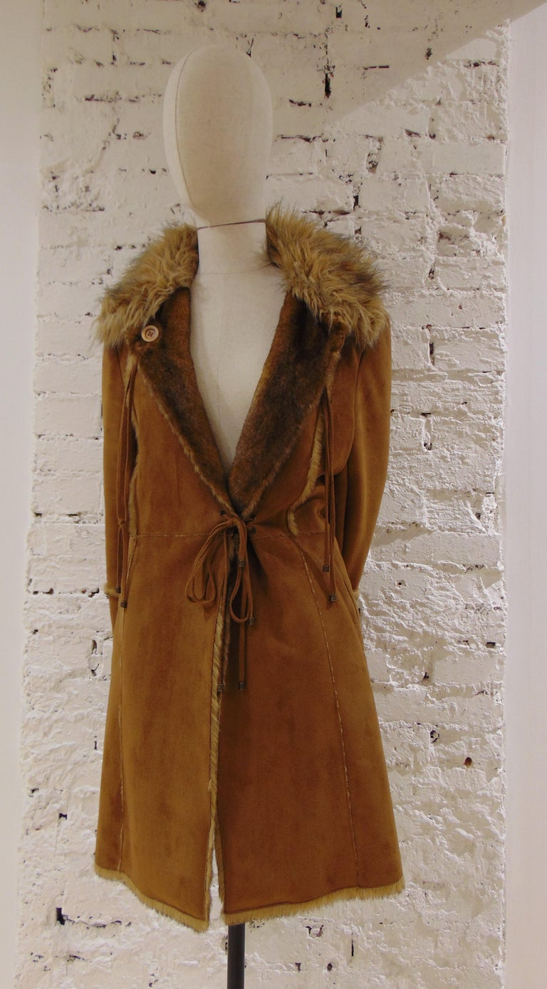 Balmain Brown Coat For Sale 1