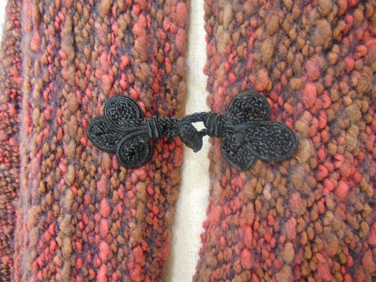Women's or Men's Wool multicoloured handmade cape For Sale