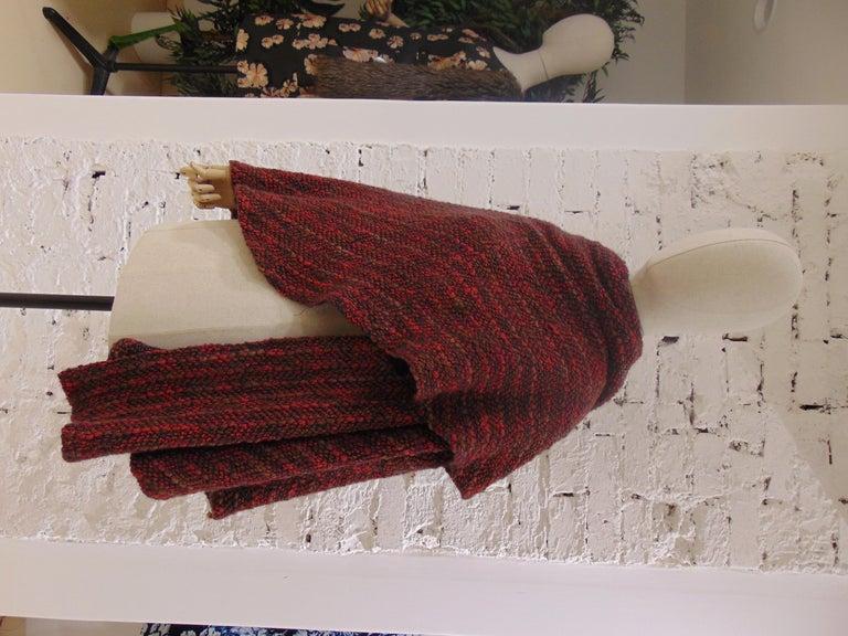 Wool multicoloured handmade cape For Sale 3