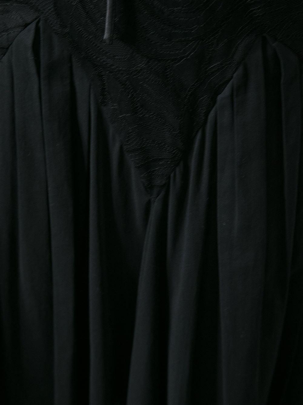 1990s Dolce and Gabbana Semi sheer Kaftan Black Dress 3