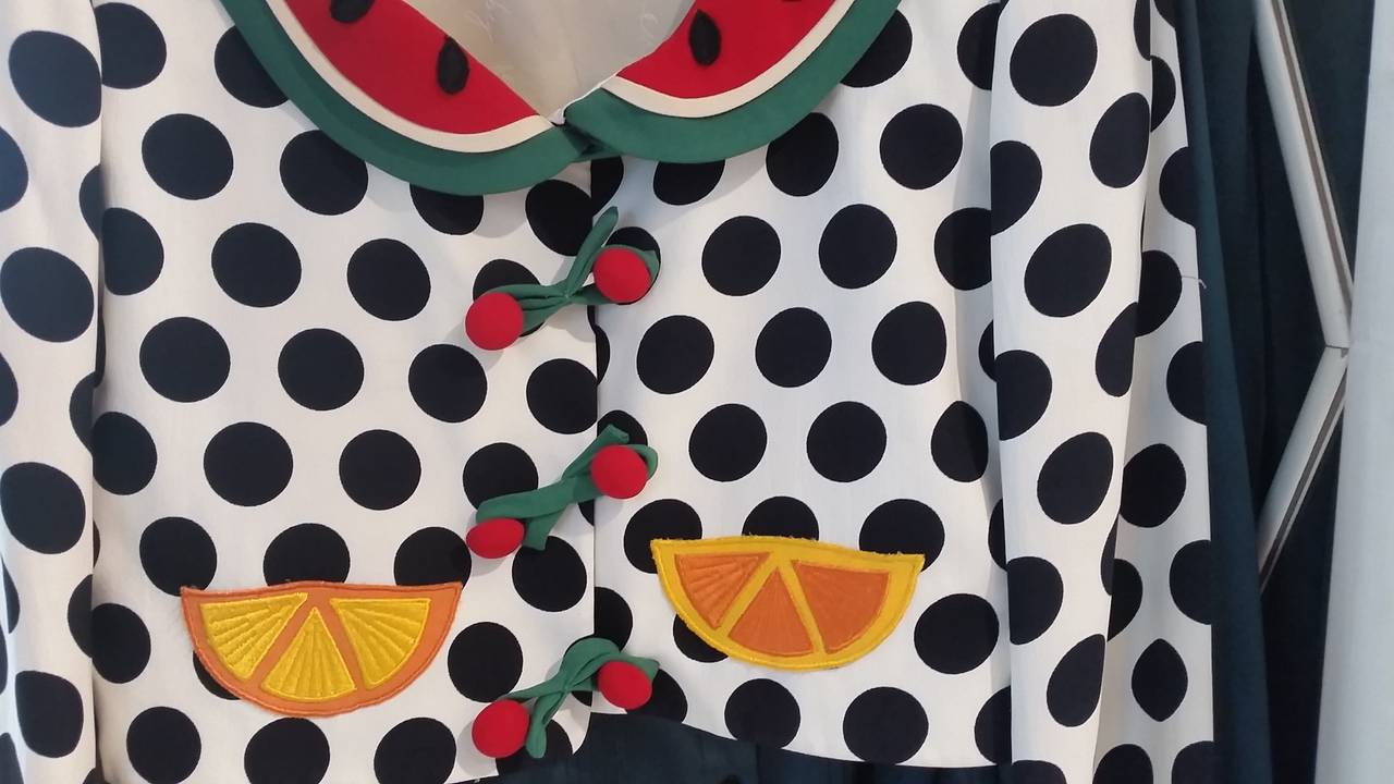 1980s Moschino Cheap & Chis Watermelon Collection Polka Suit 4