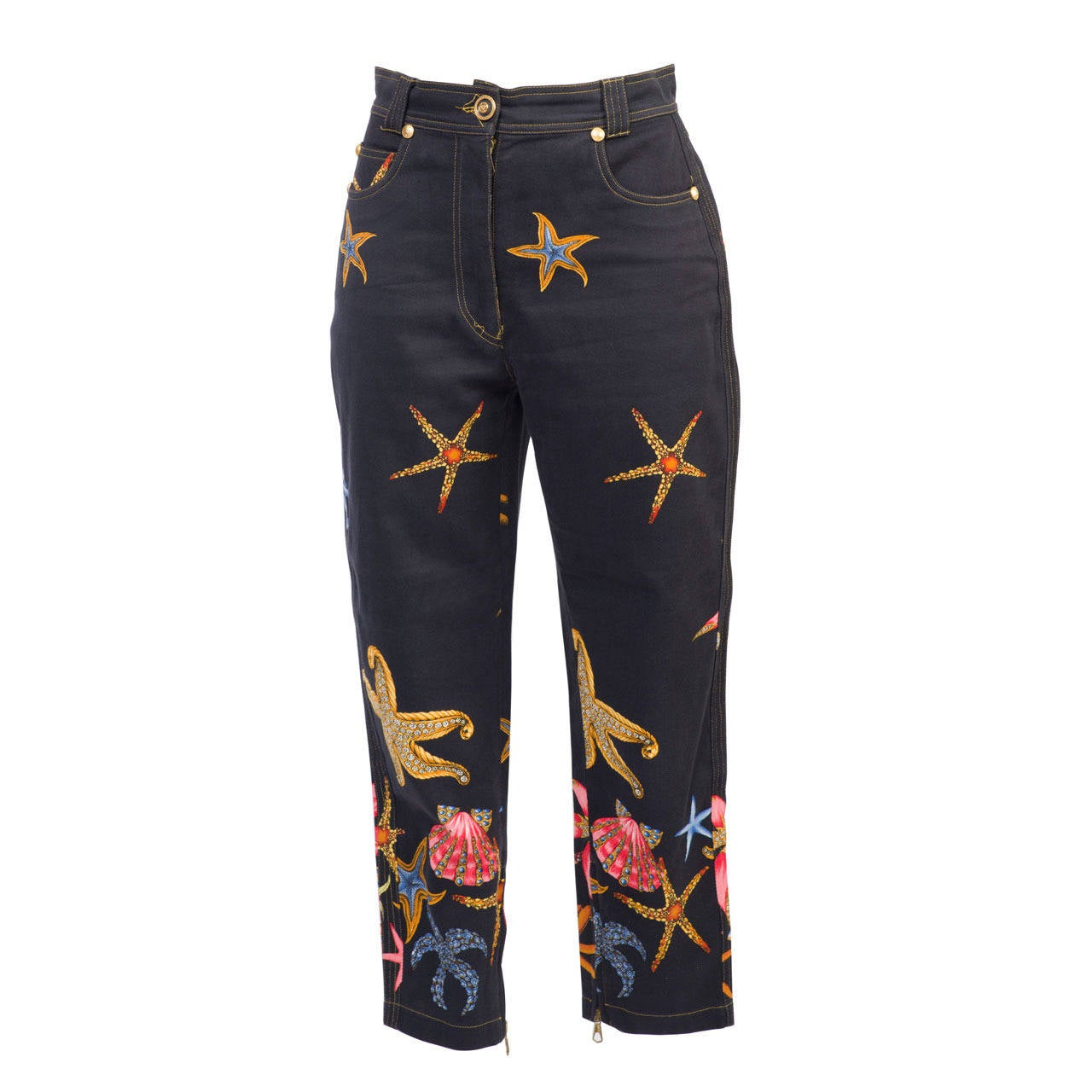 1990s Gianni Versace Vintage Iconic Trousers For Sale