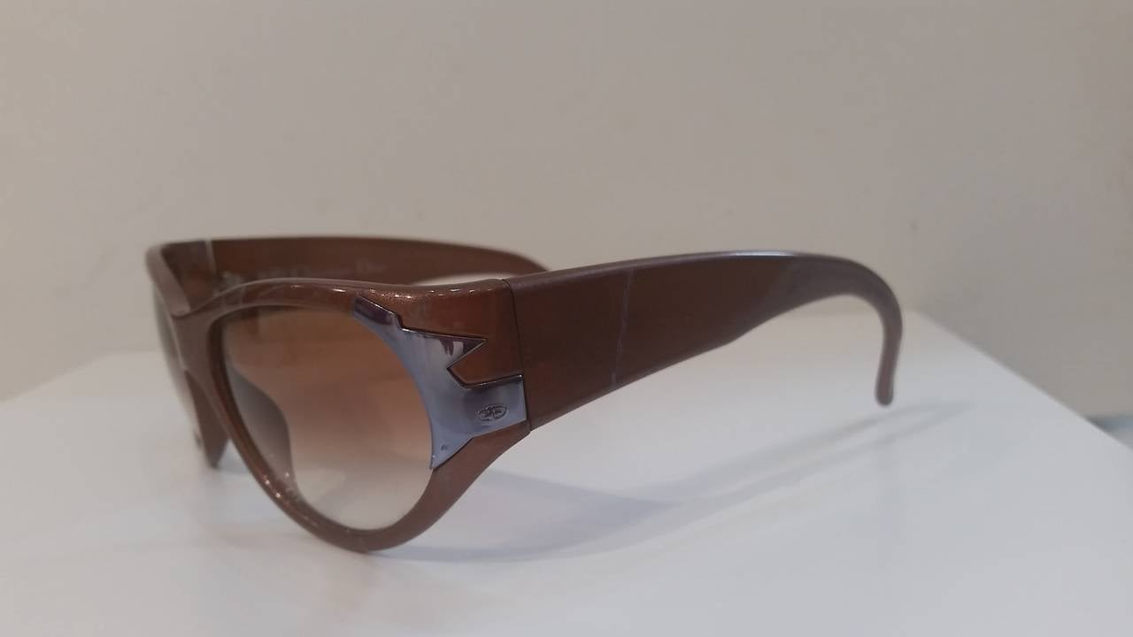 Brown 1980s Christian Dior Sunglasses For Sale