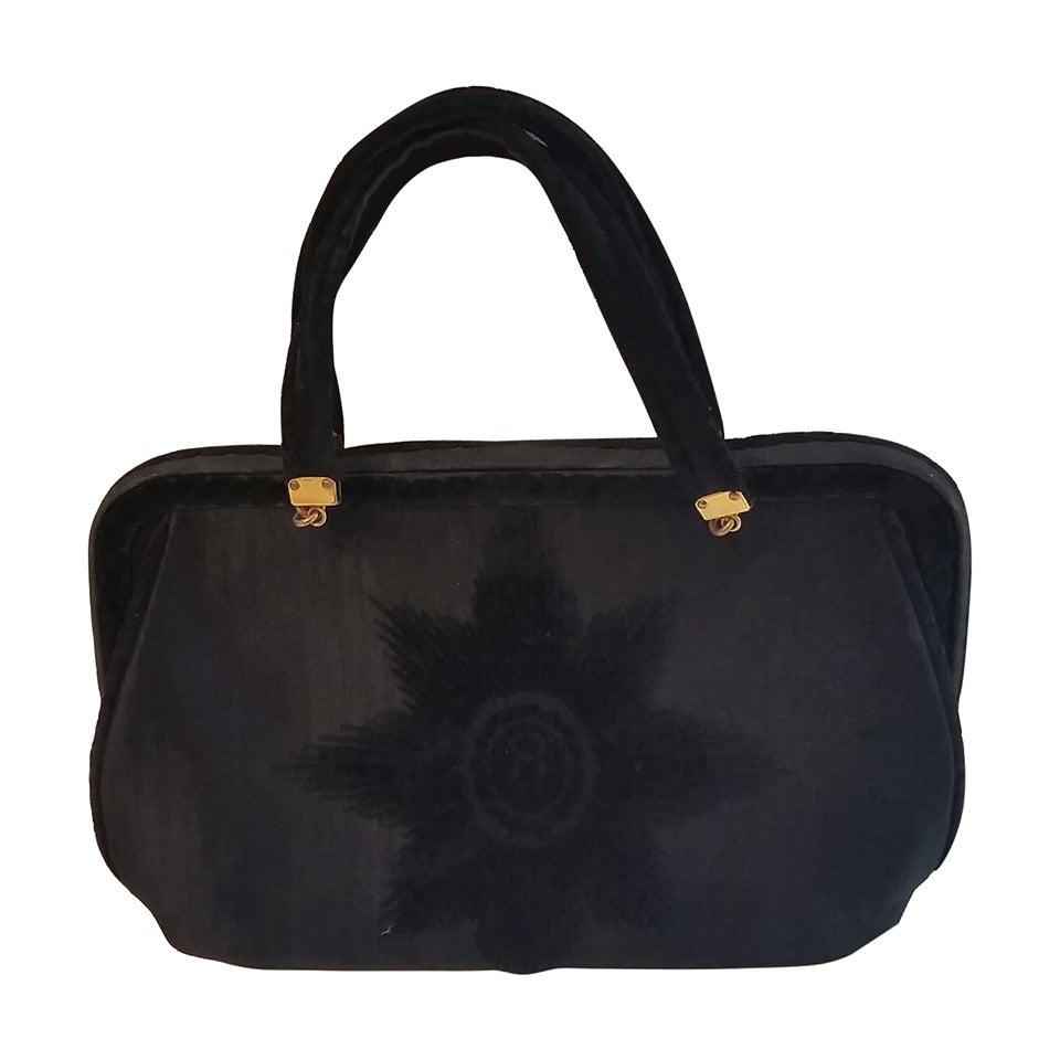 1960s Roberta di Camerino black bag