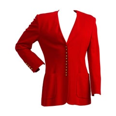 1980s Moschino Couture Red jacket