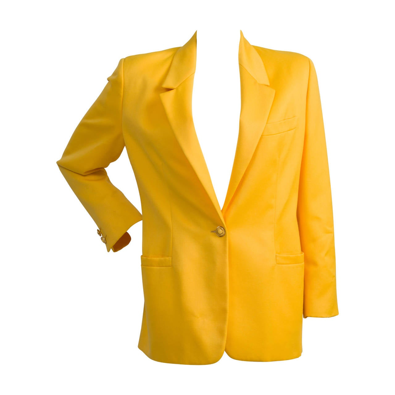 1990s Versus by Gianni Versace yellow jacket